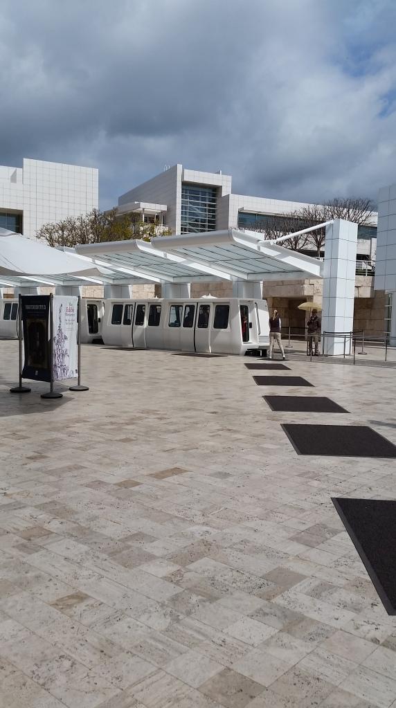The Getty Museum Tram Station - The Travel Often Blog - thetraveloftenblog.com