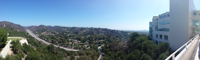 Panoramic View from The Getty Museum in Los Angeles